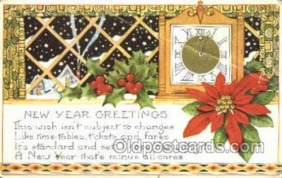 new001170 - New Years Eve Postcard Post Cards Old Vintage Antique