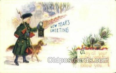 new001173 - New Years Eve Postcard Post Cards Old Vintage Antique