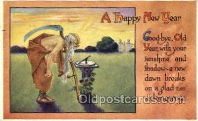 new001175 - New Years Eve Postcard Post Cards Old Vintage Antique