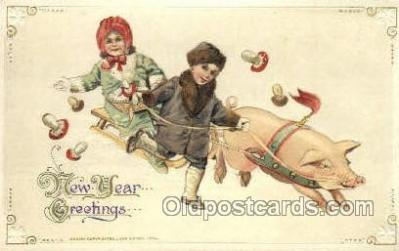 new001191 - John Winsch New Years Eve Postcard Post Cards Old Vintage Antique