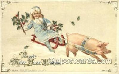 new001192 - John Winsch New Years Eve Postcard Post Cards Old Vintage Antique