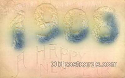 new001195 - New Years Eve Postcard Post Cards Old Vintage Antique