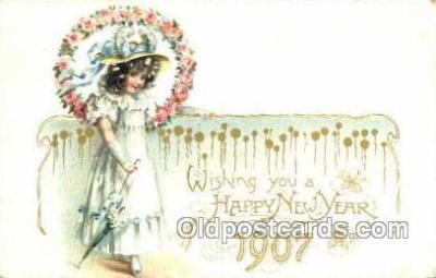 new001222 - New Years Eve Postcard Post Cards Old Vintage Antique