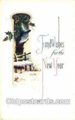 new001238 - New Years Eve Postcard Post Cards Old Vintage Antique
