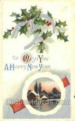 new001251 - New Years Eve Postcard Post Cards Old Vintage Antique