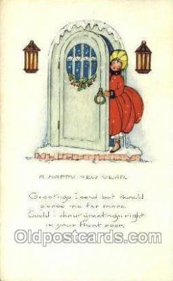new001265 - Artist Samuel Schmucker, New Years Eve Postcard Post Cards Old Vintage Antique
