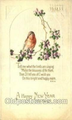 new001280 - New Years Eve Postcard Post Cards Old Vintage Antique