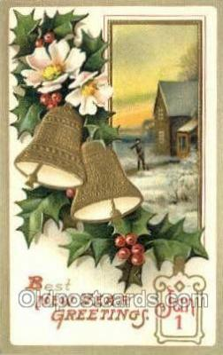 new001357 - New Years Eve Postcard Post Cards Old Vintage Antique