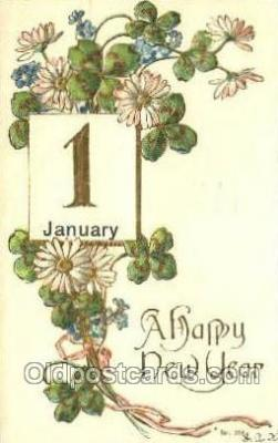 new001380 - New Years Eve Postcard Post Cards Old Vintage Antique