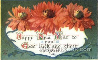 new001415 - New Years Eve Postcard Post Cards Old Vintage Antique