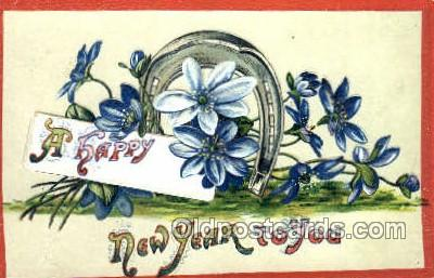 new001421 - New Years Eve Postcard Post Cards Old Vintage Antique