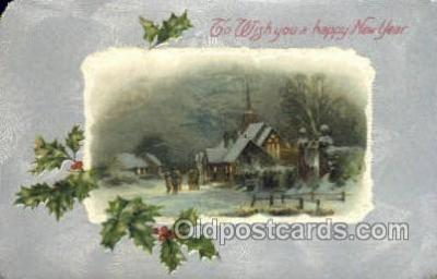 new001428 - New Years Eve Postcard Post Cards Old Vintage Antique