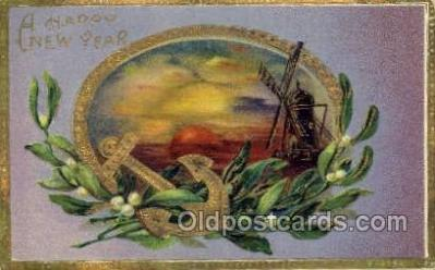 new001436 - New Years Eve Postcard Post Cards Old Vintage Antique