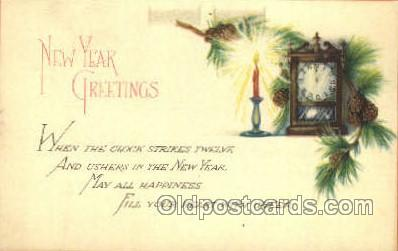 new001443 - New Years Eve Postcard Post Cards Old Vintage Antique