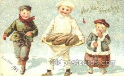 new001448 - New Years Eve Postcard Post Cards Old Vintage Antique