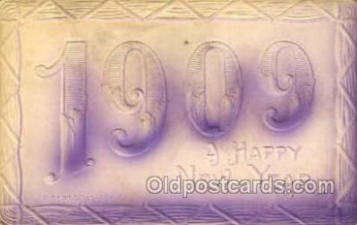new001452 - New Years Eve Postcard Post Cards Old Vintage Antique