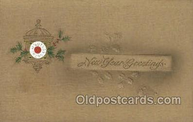 new001461 - New Years Eve Postcard Post Cards Old Vintage Antique
