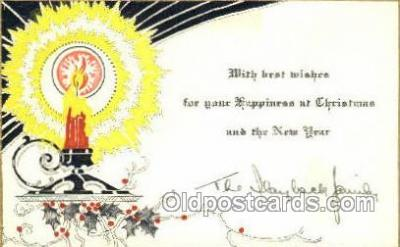 new001494 - Non Postcard Backing New Years Eve Postcard Post Cards Old Vintage Antique