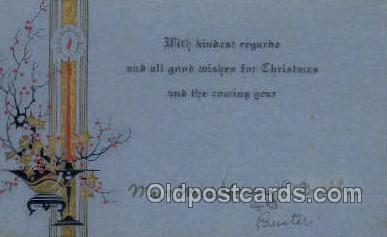 new001527 - New Years Eve Postcard Post Cards Old Vintage Antique