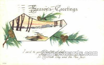new001549 - New Years Eve Postcard Post Cards Old Vintage Antique