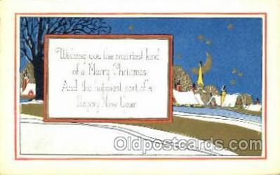 new001560 - New Years Eve Postcard Post Cards Old Vintage Antique