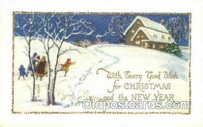 new001565 - New Years Eve Postcard Post Cards Old Vintage Antique