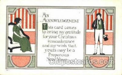 new001568 - New Years Eve Postcard Post Cards Old Vintage Antique