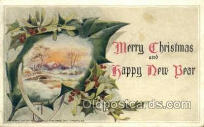new001574 - New Years Eve Postcard Post Cards Old Vintage Antique