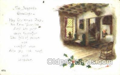 new001578 - New Years Eve Postcard Post Cards Old Vintage Antique