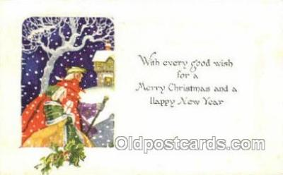 new001580 - New Years Eve Postcard Post Cards Old Vintage Antique