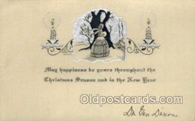 new001582 - New Years Eve Postcard Post Cards Old Vintage Antique