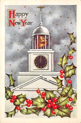 new002013 - New Years Day Postcards Old Vintage Antique Post Cards
