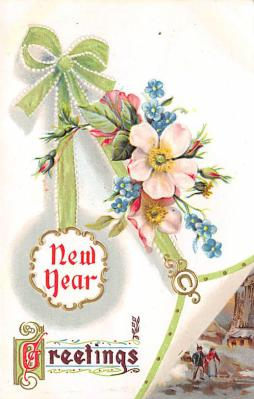 new002015 - New Years Day Postcards Old Vintage Antique Post Cards