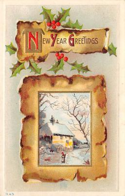new002019 - New Years Day Postcards Old Vintage Antique Post Cards