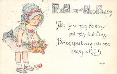 new002029 - New Years Day Postcards Old Vintage Antique Post Cards