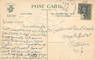 new002033 - New Years Day Postcards Old Vintage Antique Post Cards  back
