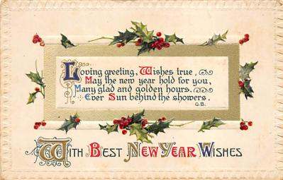 new002043 - New Years Day Postcards Old Vintage Antique Post Cards