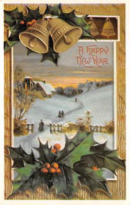 new002059 - New Years Day Postcards Old Vintage Antique Post Cards