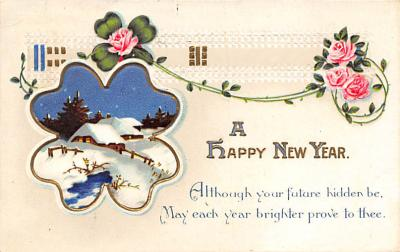 new002071 - New Years Day Postcards Old Vintage Antique Post Cards