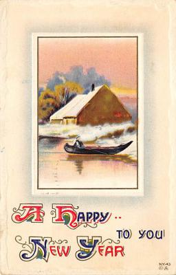 new002075 - New Years Day Postcards Old Vintage Antique Post Cards