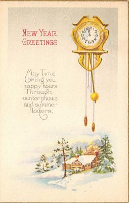 new002081 - New Years Day Postcards Old Vintage Antique Post Cards