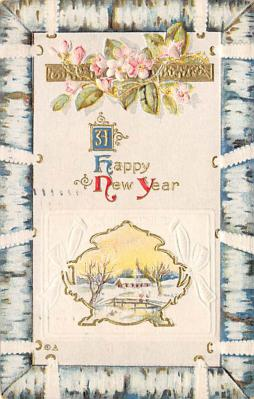 new002085 - New Years Day Postcards Old Vintage Antique Post Cards
