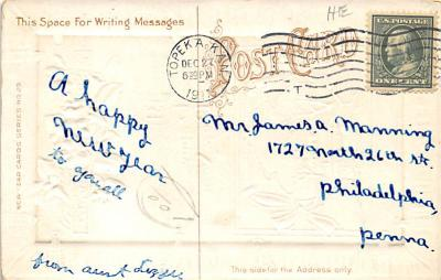 new002085 - New Years Day Postcards Old Vintage Antique Post Cards  back