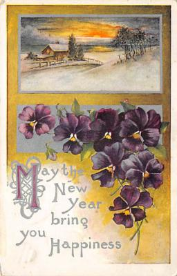 new002091 - New Years Day Postcards Old Vintage Antique Post Cards