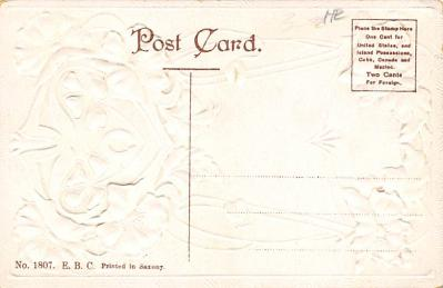 new002097 - New Years Day Postcards Old Vintage Antique Post Cards  back