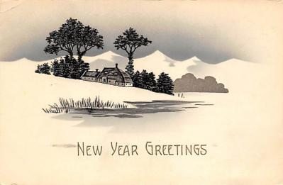 new002103 - New Years Day Postcards Old Vintage Antique Post Cards