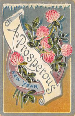 new002105 - New Years Day Postcards Old Vintage Antique Post Cards