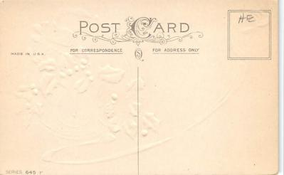 new002107 - New Years Day Postcards Old Vintage Antique Post Cards  back
