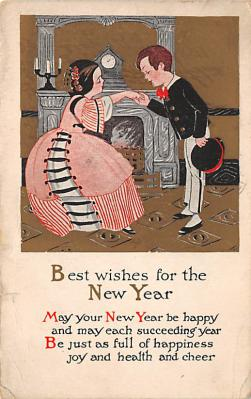 new002127 - New Years Day Postcards Old Vintage Antique Post Cards