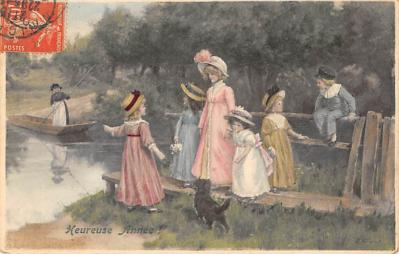 new002129 - New Years Day Postcards Old Vintage Antique Post Cards